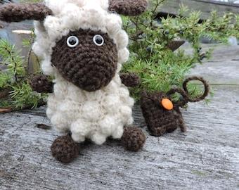 Amigurumi Woollen Lamb (Chinese lamb/sheep year) crochet pattern, PDF E-book, tutorial
