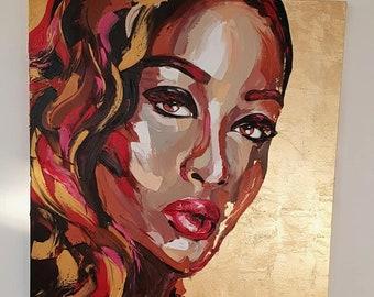 Golden girl - ORIGINAL Oil painting