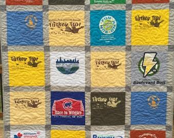 Custom T-Shirt Quilt Deposit,  25 Shirt TShirt Quilt, Custom made from clothing,