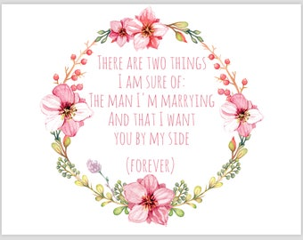 "Light Pink & Sage ""There are two things I'm, sure of..."" card"