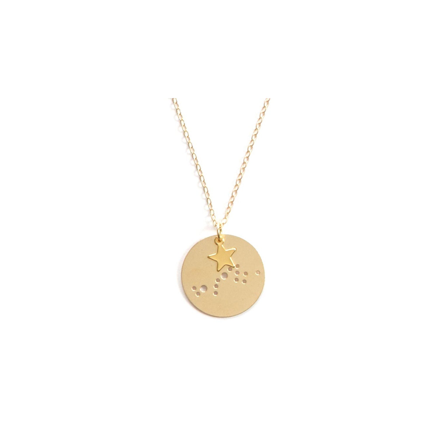 Scorpio 14kt Gold Dipped Zodiac Constellation Charm Necklace