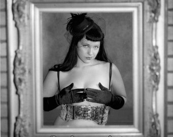 Kitty Page Framed Pinup 8x10 Silver Gelatin Print