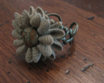 Boho Flower adjustable Ring