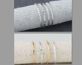 Dainty Stacking Rings, Skinny Stackable Ring, Simple Ring, Stacking Ring in Silver and Gold Filled