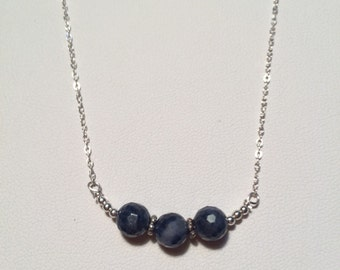 Natural Faceted Sapphire Necklace