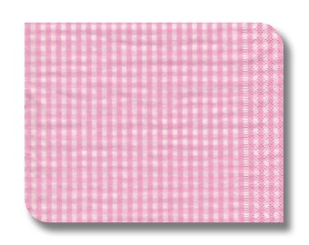 Check paper napkin for decoupage.  Napkin serviette tissue x 1. Pink Picnic. No 1048