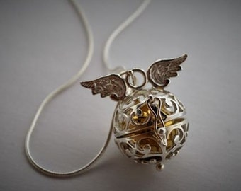 Winged Angel Caller Necklace