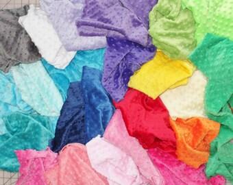 MINKY DESTASH STUFFED Full, Mink Scraps, Minky Pieces, Minky Fabric, Fabric Scraps, Boy, Girl, Baby, Choose Colors