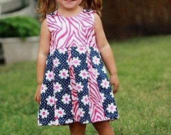 Easy Dress Pattern, Kylie Box-Pleated Dress, Baby, Toddler Dress Pattern