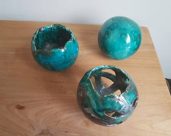 Set of 3 handmade Ceramic balls