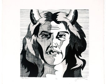 She Devil - Black and White Lithograph 1 of 3