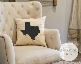 Custom State Pillow - Farmhouse State Decor - State Housewarming Gift - New State Gift - Personalized State Pride - New Farmhouse Pillow