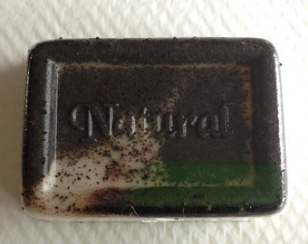 Shea Butter Coffee Break Exfoliating Soap by Down the Lane Farm Natural with Honey