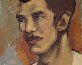 Autumn Boy - Oil Painting, Portrait, Original Art, Painting on Panel, Décor