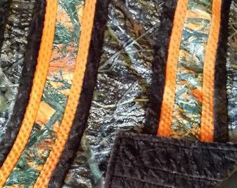 Camo Minky Strip Quilt