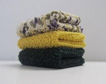 Cotton Washcloths Dishcloths 3 Set-Ready to Ship-