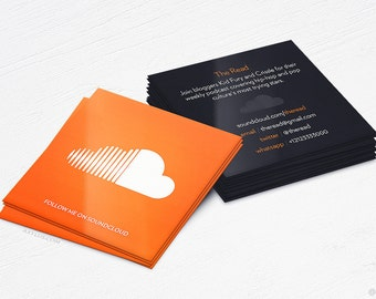 Soundcloud Business Cards - Producer - Design and Printing - 16PT UV - 100, 250, 500, 1000 | FREE Shipping |