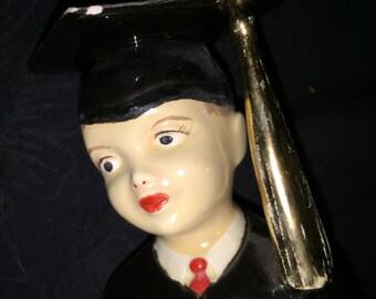 Vintage Boy Graduate Figurine