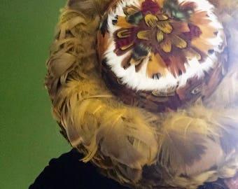 1950's Pheasant Feather Breton Hat