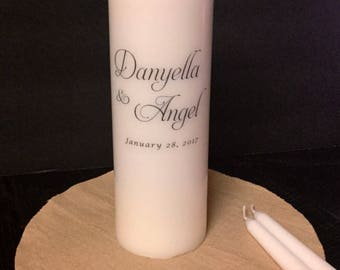 Unity Candle Set Personalized