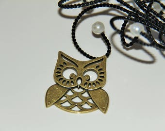 The large bronze OWL pendant