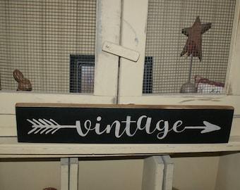 wall decor, vintage sign, arrow, primitive home decor