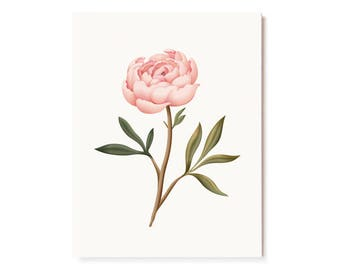 Botanical Scented Card - Peony