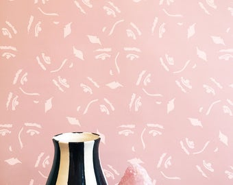 Land of Women Print Removable Wallpaper // Perfect for renters and DIY projects