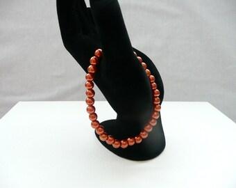 nbs-Bronze Pearl Stretch Bracelet