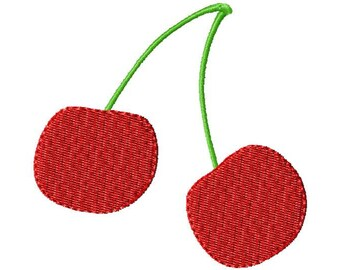 Cherries Embroidery Design, Embroidery Design, Cherry, Machine Embroidery, Embroidery, Cherries, Fruit, Cherry Embroidery, Instant Download
