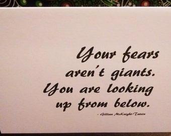 Your Fears Quote Blank Note Card