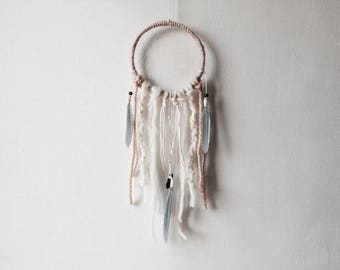 "Aura Dream Catcher 5"", DreamCatcher, Small, Quartz Crystal, Wall Hanging, Wall Decor, Boho Decor, Boho Wedding, Baby Shower, Nursery Decor"