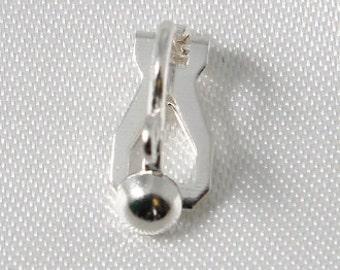 10 pcs - Clip On Ear Wires Earring Silver