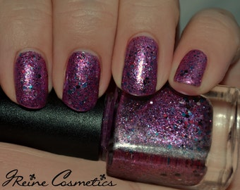 Block Party - Pink with Multicolored Glitter Nail Polish LIMITED EDITION