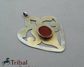 Turkmen pendant, vintage silver pendant, arseri pendant,vintage jewelry