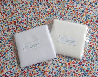 """25 White or Ivory Cotton Tana Lawn Fabric Patchwork 2.5"""" Squares"""