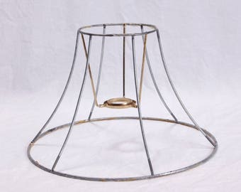 Wire lampshade frame etsy lamp shade wire frame lamp harp diy kit 6 sided vintage hexagon greentooth Image collections