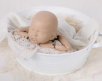 Washtub - white, newborn props, newborn posing stool, baby photo prop, newborn photo prop, newborn prop, photography props
