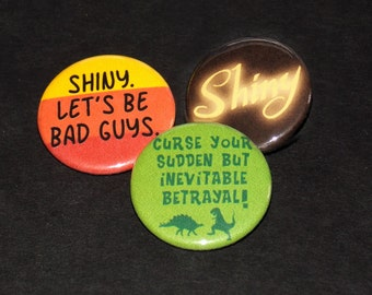 Firefly Pinback Button Set of 3