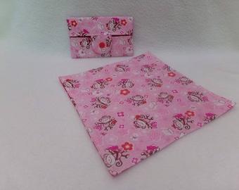 Case and matching handkerchief pattern monkeys