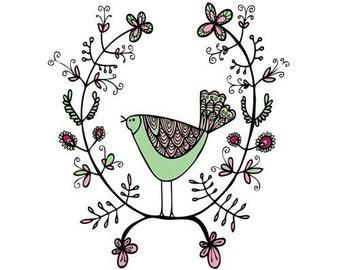 Greeting Card - Emblem Bird