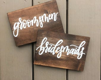 Wedding Signs | Hand Painted Wood Signs | Rustic Wedding Signs | Table Signs | Custom Wedding Signs | Wedding Decor