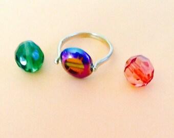 adjustable three ring beads