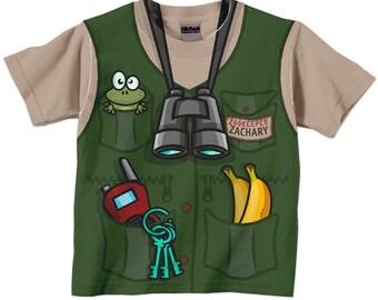 Zookeeper Shirt, Personalized Childrens Zoo Birthday T-Shirt, Boy's Jungle Birthday Shirt, Zoo Shirt