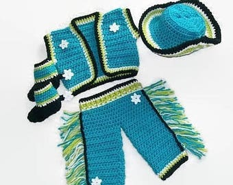 Baby patterns Crochet Boys Pattern BABY CROCHET Pattern Boys Clothing Crochet Boys Cowboy Pattern