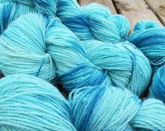 french angora merino yarn blue - knitting crocheting