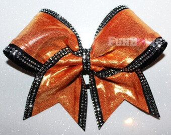 Gorgeous rhinestone double lined  Cheer Bow  by FunBows !
