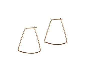 Lily, Bow Hoop Earrings