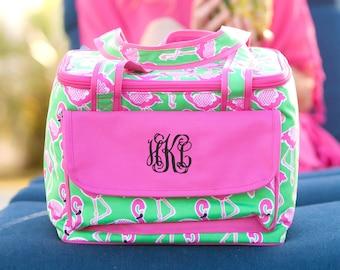 Flamingo Monogrammed Cooler Bag