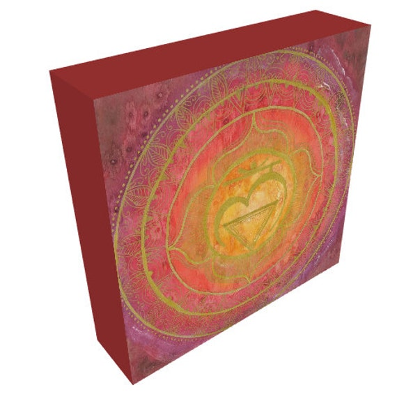 Canvas Print Root Chakra Mandala Sacred Geometry Art by Lauren Tannehill ART
